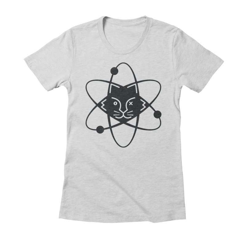 Schrodinger's Cat Women's Fitted T-Shirt by Ibrahim Dilek's Artist Shop