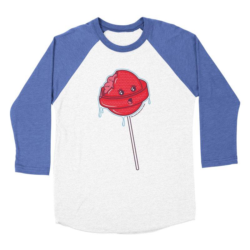 Brain Food Men's Baseball Triblend Longsleeve T-Shirt by Idle Delights Design Co. Apparel