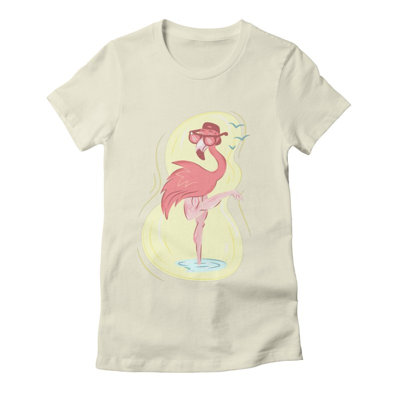 Beach Bird Women's Fitted T-Shirt by Idle Delights Design Co. Apparel