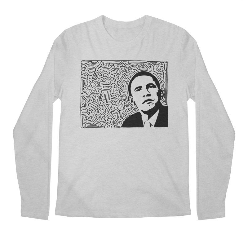 Obama Maze (black)   by idrawmazes's Artist Shop