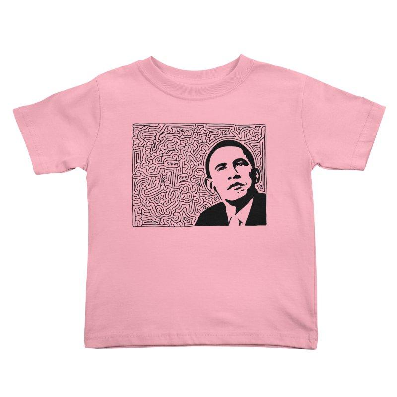 Obama Maze (black) Kids Toddler T-Shirt by idrawmazes's Artist Shop