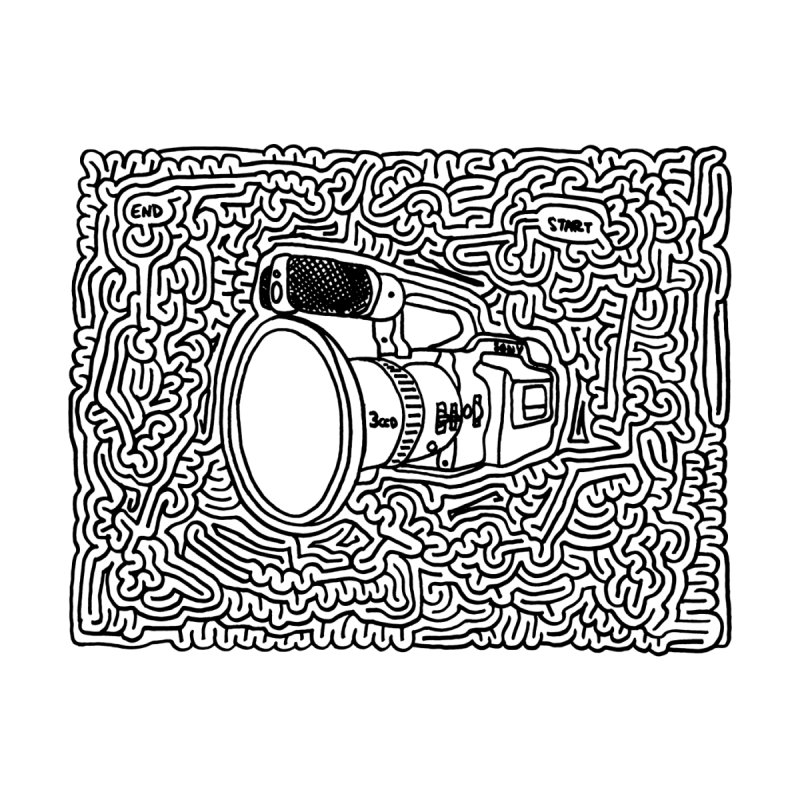 VX1000 maze (black) by idrawmazes's Artist Shop