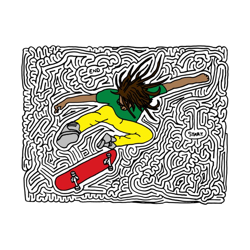 Neen maze (black & color) by idrawmazes's Artist Shop