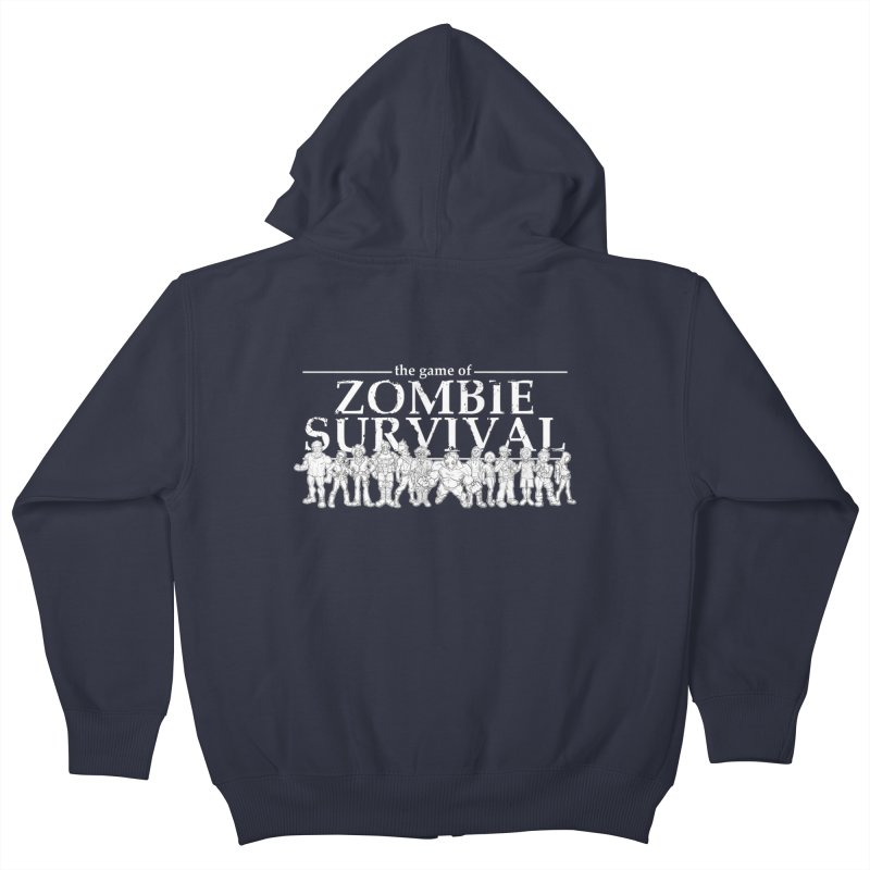 The Game of Zombie Survival Kids Zip-Up Hoody by idrawmazes's Artist Shop