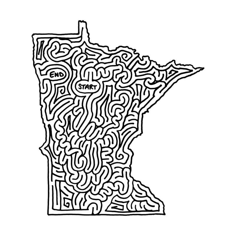 Minnesota maze (black) None  by idrawmazes's Artist Shop