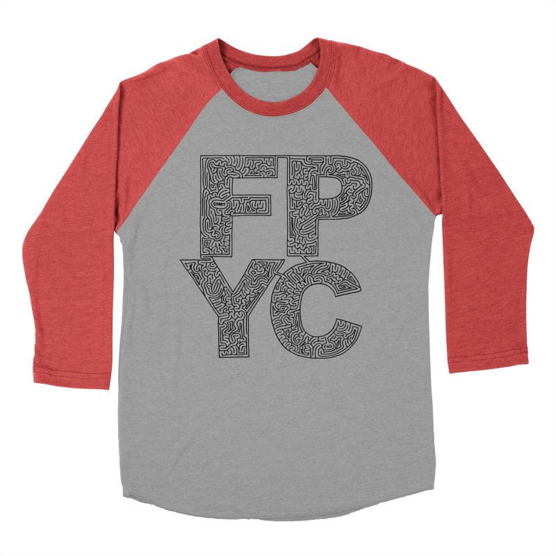 FPYC maze (black) Women's Baseball Triblend Longsleeve T-Shirt by I Draw Mazes's Artist Shop