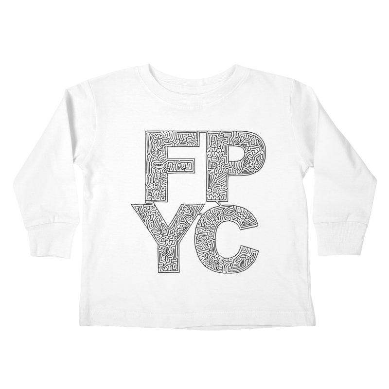 FPYC maze (black) Kids Toddler Longsleeve T-Shirt by idrawmazes's Artist Shop