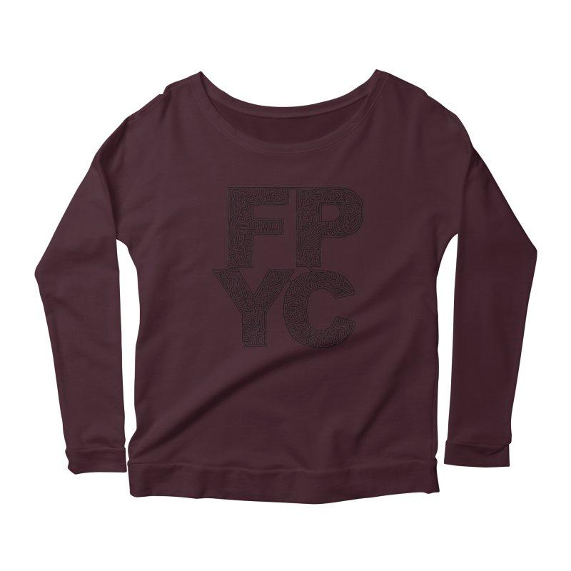 FPYC maze (black) Women's Scoop Neck Longsleeve T-Shirt by idrawmazes's Artist Shop