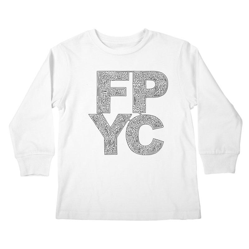 FPYC maze (black) Kids Longsleeve T-Shirt by idrawmazes's Artist Shop