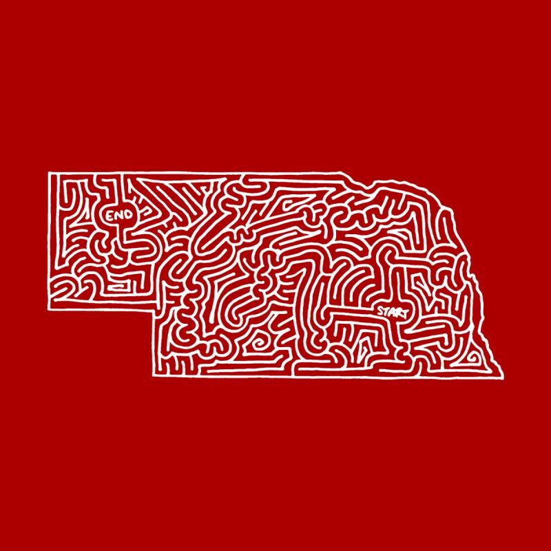 Nebraska maze (white) by idrawmazes's Artist Shop