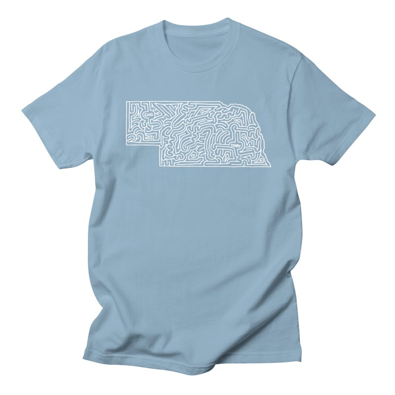 Nebraska maze (white) Women's Unisex T-Shirt by idrawmazes's Artist Shop