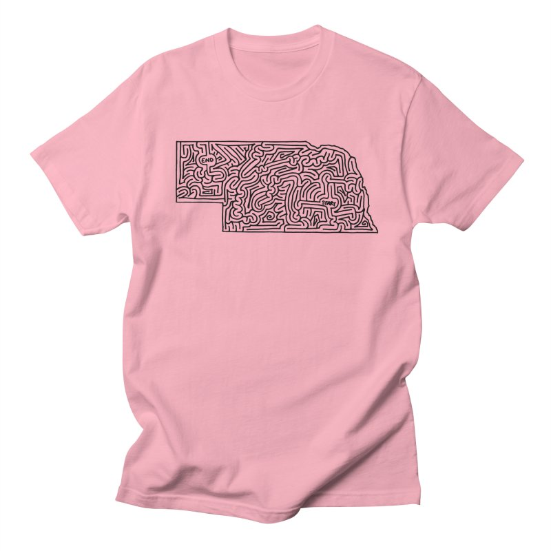 Nebraska maze (black) Women's Unisex T-Shirt by idrawmazes's Artist Shop