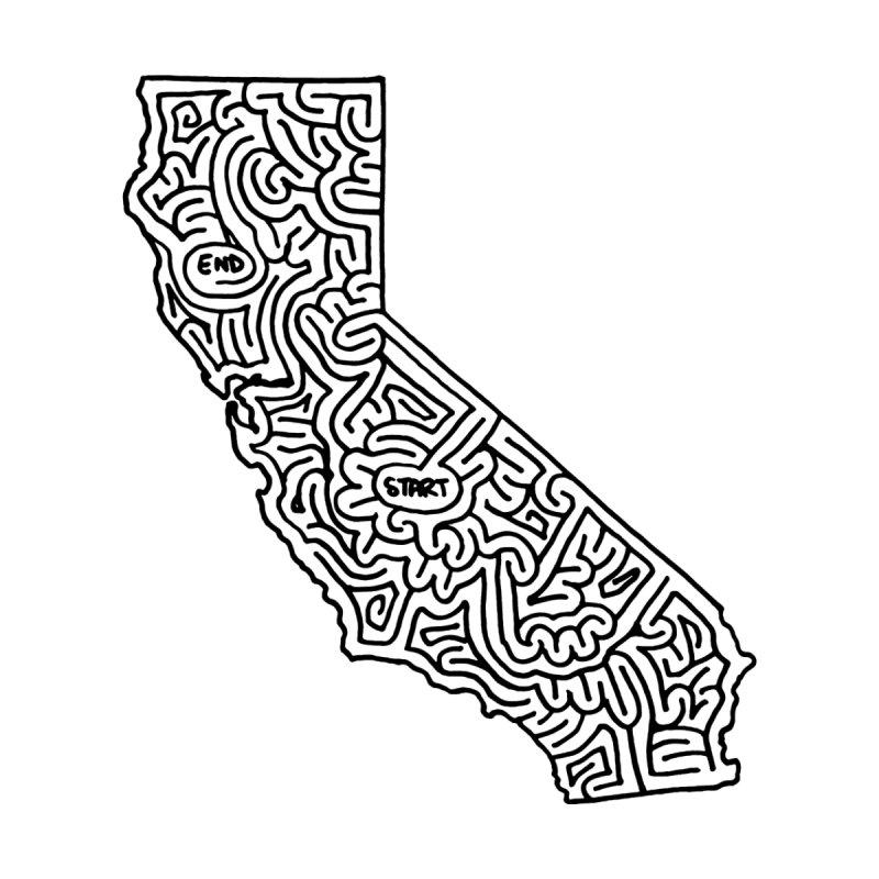California maze (black) by I Draw Mazes's Artist Shop