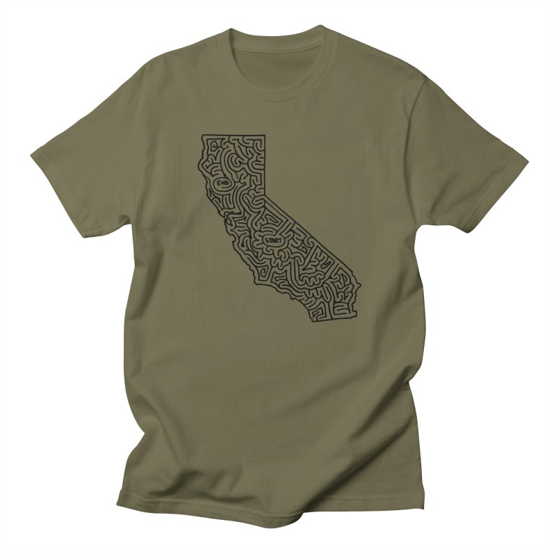 California maze (black) Women's Unisex T-Shirt by idrawmazes's Artist Shop
