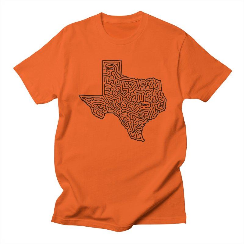 Texas maze (black) Women's Unisex T-Shirt by idrawmazes's Artist Shop