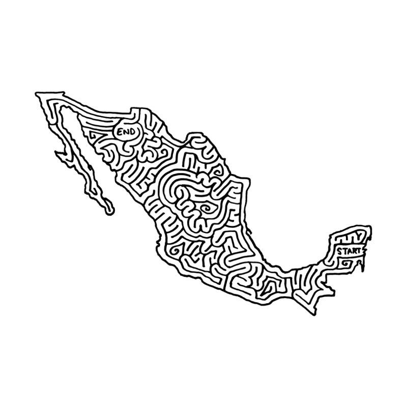 Mexico maze (black) by I Draw Mazes's Artist Shop