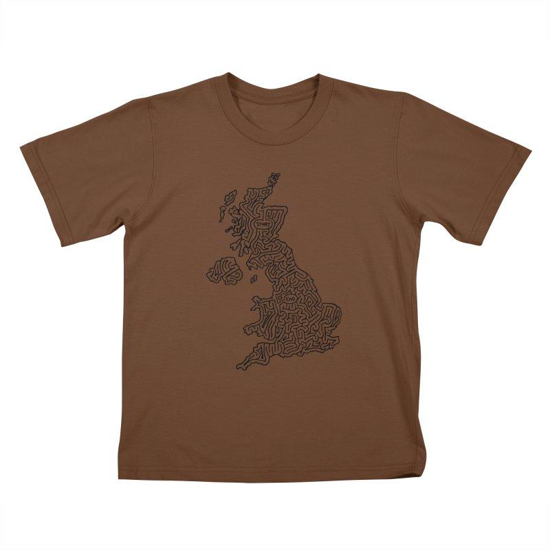 United Kingdom maze (black) Kids T-Shirt by idrawmazes's Artist Shop