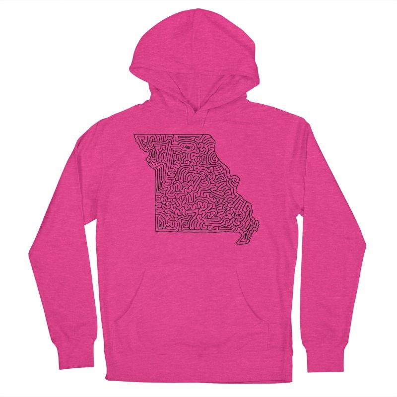 Missouri maze (black) Women's Pullover Hoody by idrawmazes's Artist Shop