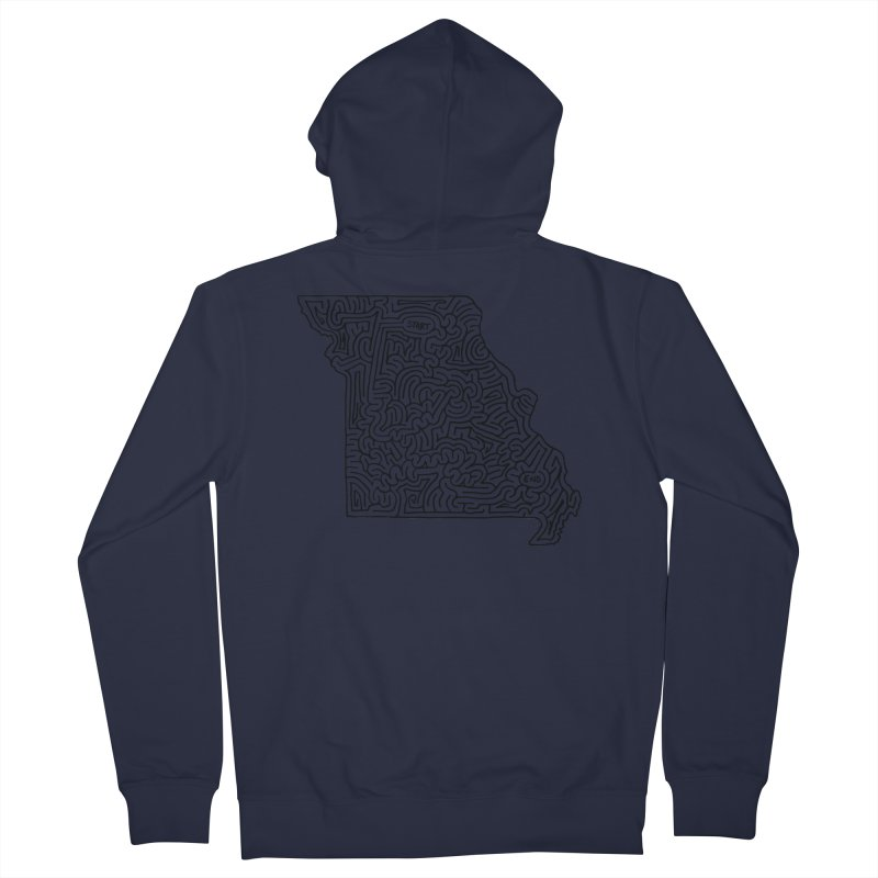 Missouri maze (black) Women's Zip-Up Hoody by idrawmazes's Artist Shop