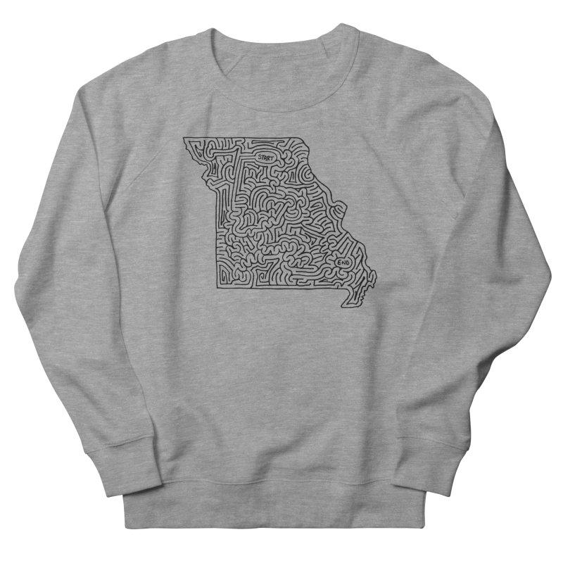 Missouri maze (black) Men's Sweatshirt by idrawmazes's Artist Shop