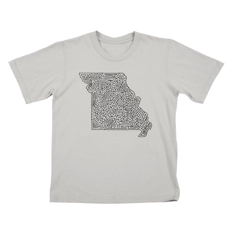 Missouri maze (black)   by idrawmazes's Artist Shop