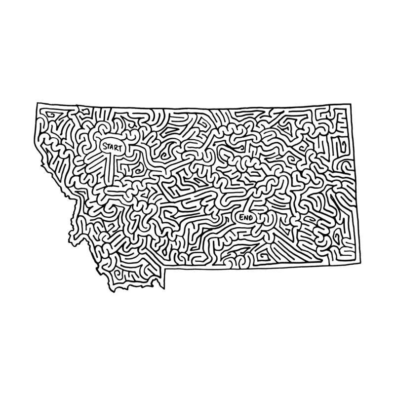 Montana maze (black) by I Draw Mazes's Artist Shop