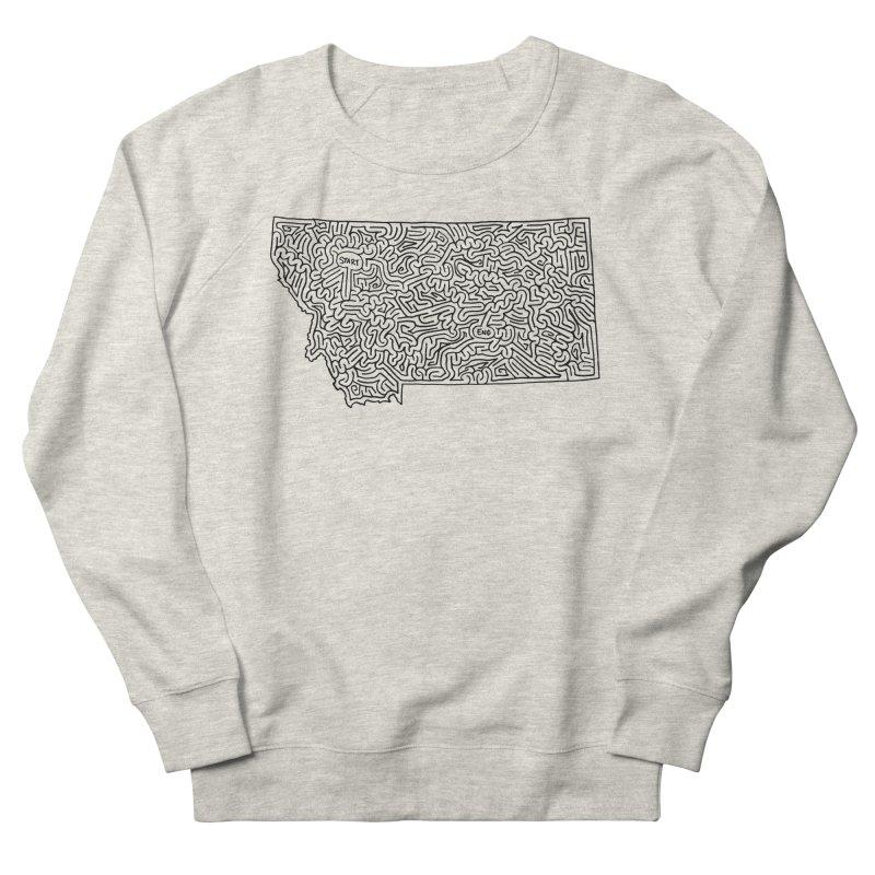 Montana maze (black) Women's Sweatshirt by idrawmazes's Artist Shop