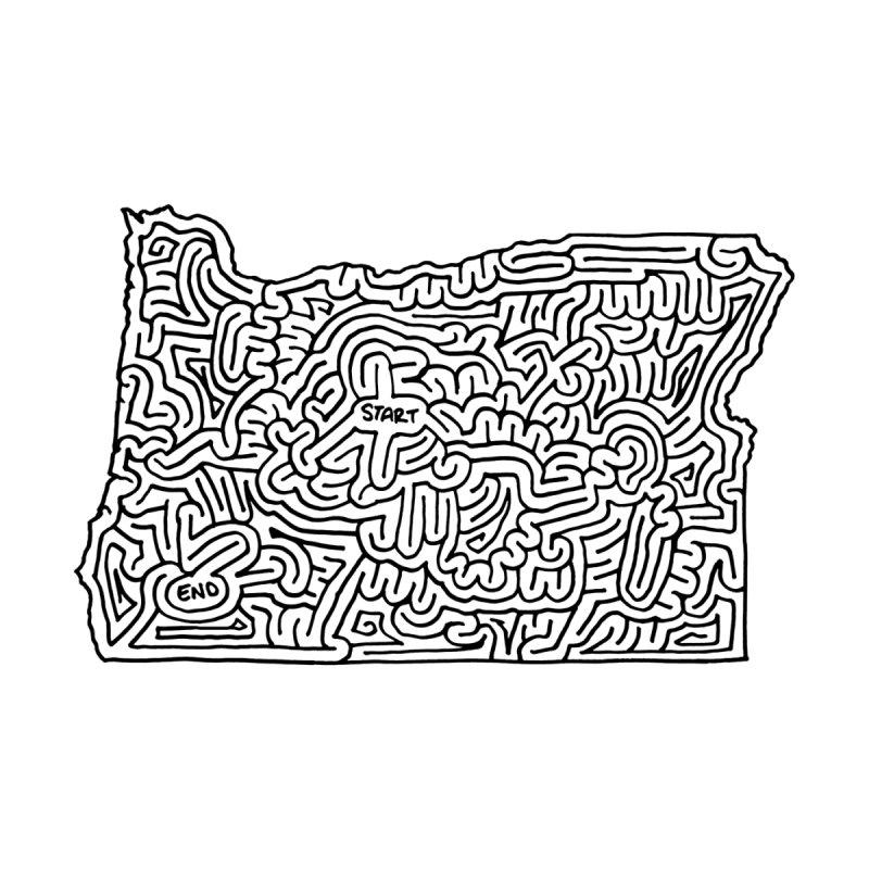 Oregon maze (black) by idrawmazes's Artist Shop