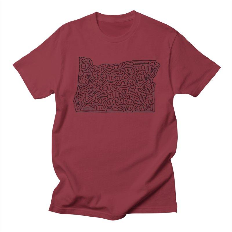 Oregon maze (black) Women's Unisex T-Shirt by idrawmazes's Artist Shop