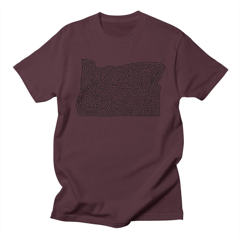 Oregon maze (black) Women's Unisex T-Shirt by idrawmazes's Artist Shop