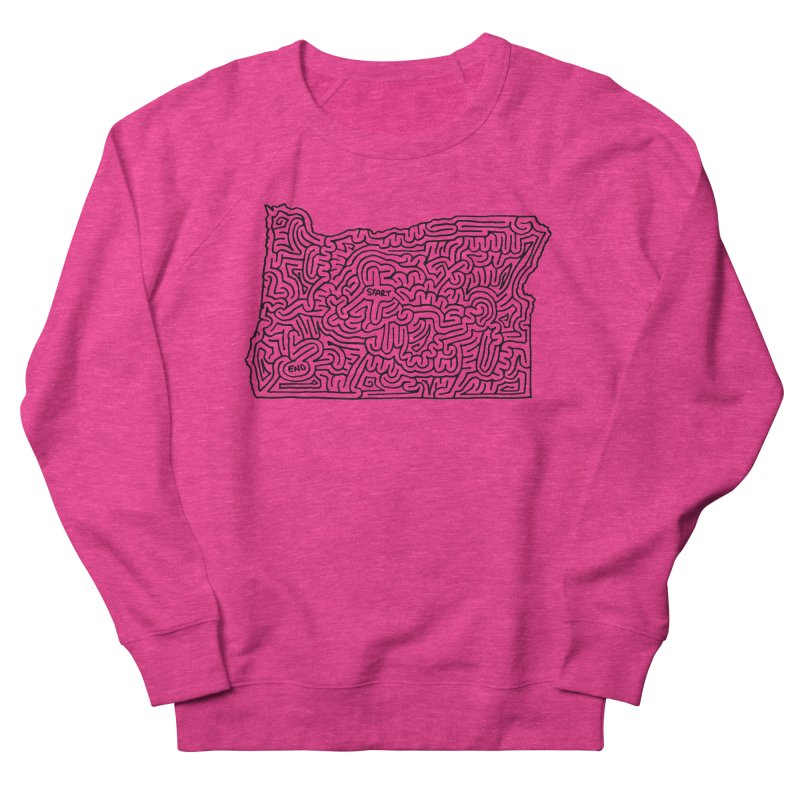 Oregon maze (black) Women's Sweatshirt by idrawmazes's Artist Shop