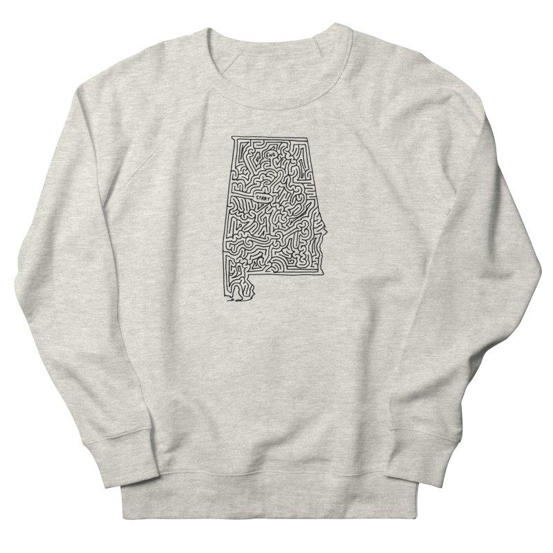 Alabama maze (black) Women's Sweatshirt by idrawmazes's Artist Shop