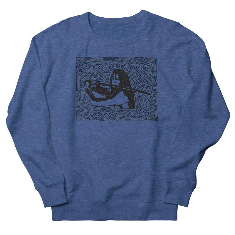Woman with Sword maze (black) Men's Sweatshirt by idrawmazes's Artist Shop