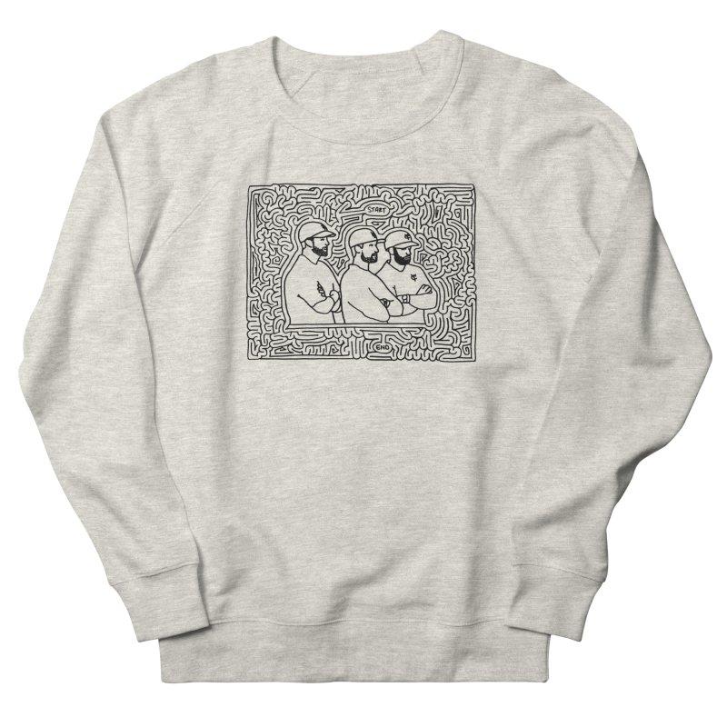 YC Baseball maze (black) Women's Sweatshirt by idrawmazes's Artist Shop