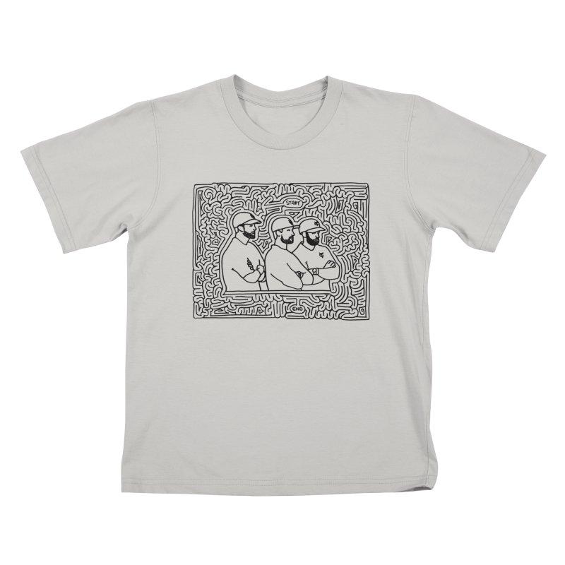 YC Baseball maze (black) Kids T-shirt by idrawmazes's Artist Shop