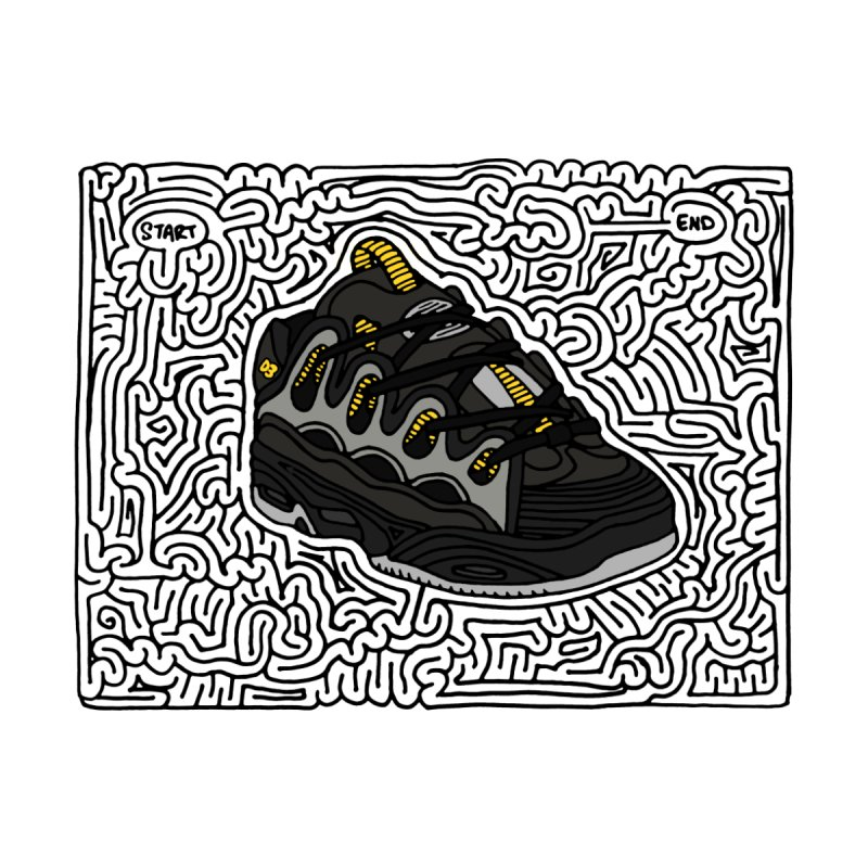 D3 maze (black w/ color) by idrawmazes's Artist Shop