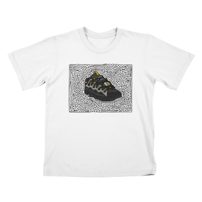 D3 maze (black w/ color) Kids T-Shirt by idrawmazes's Artist Shop