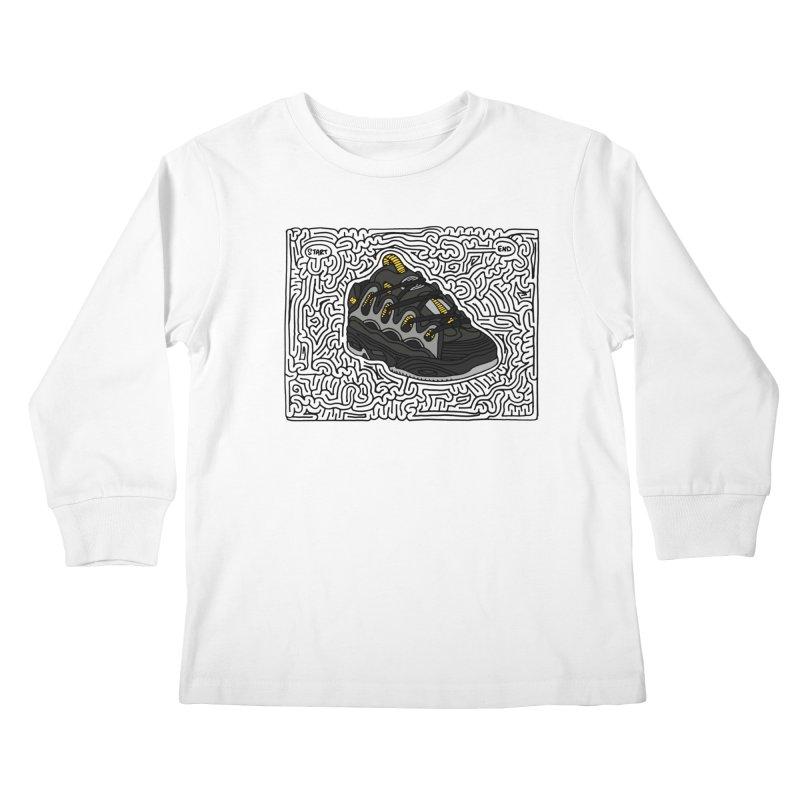 D3 maze (black w/ color) Kids Longsleeve T-Shirt by idrawmazes's Artist Shop