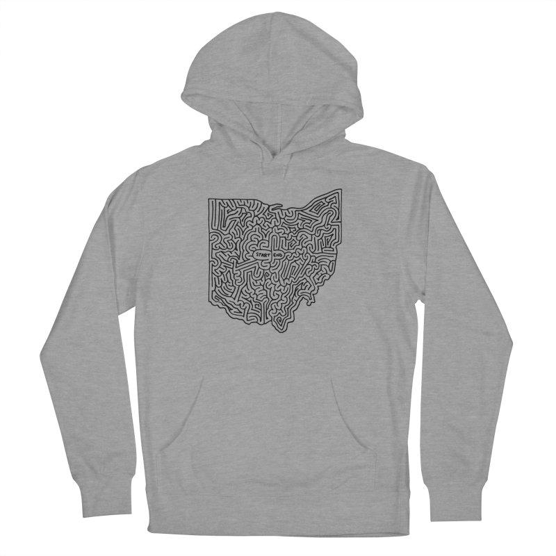 Ohio maze (black) Women's Pullover Hoody by idrawmazes's Artist Shop
