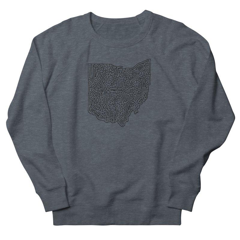 Ohio maze (black) Women's Sweatshirt by idrawmazes's Artist Shop