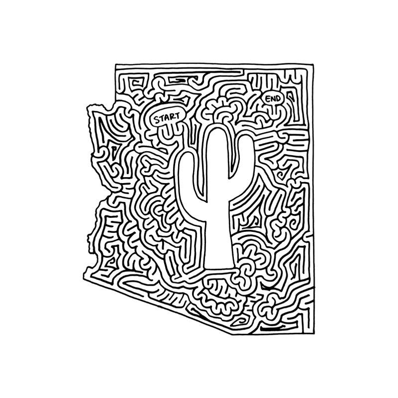 Arizona maze (black) by I Draw Mazes's Artist Shop