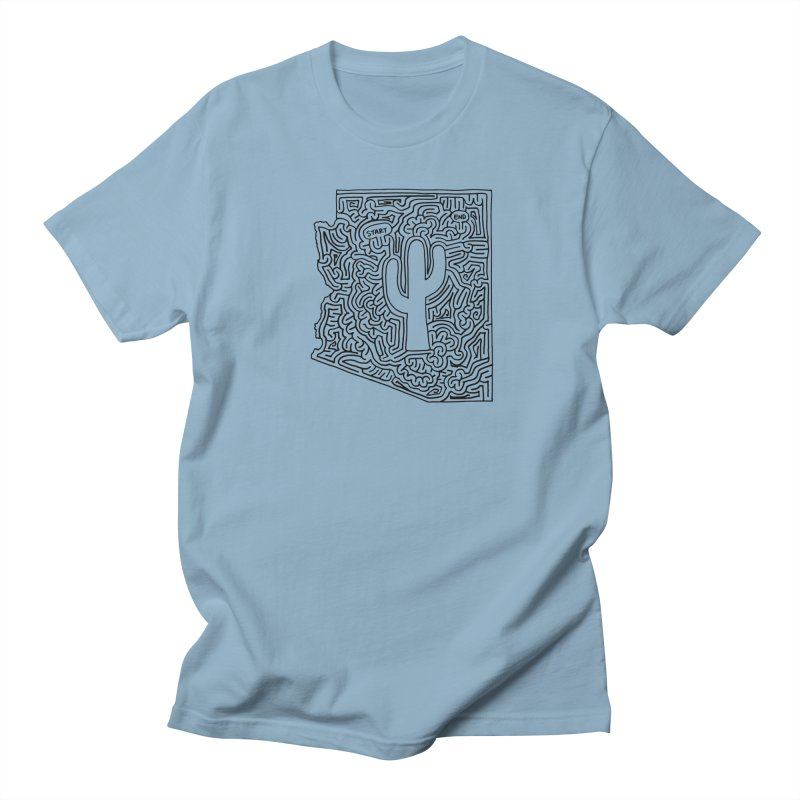 Arizona maze (black) Men's T-Shirt by idrawmazes's Artist Shop