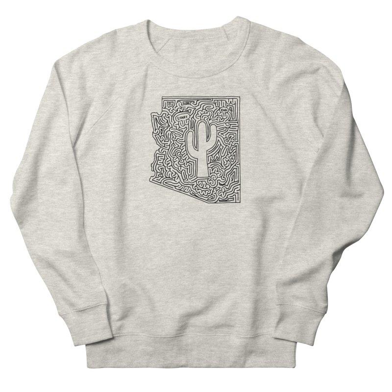 Arizona maze (black) Women's Sweatshirt by idrawmazes's Artist Shop