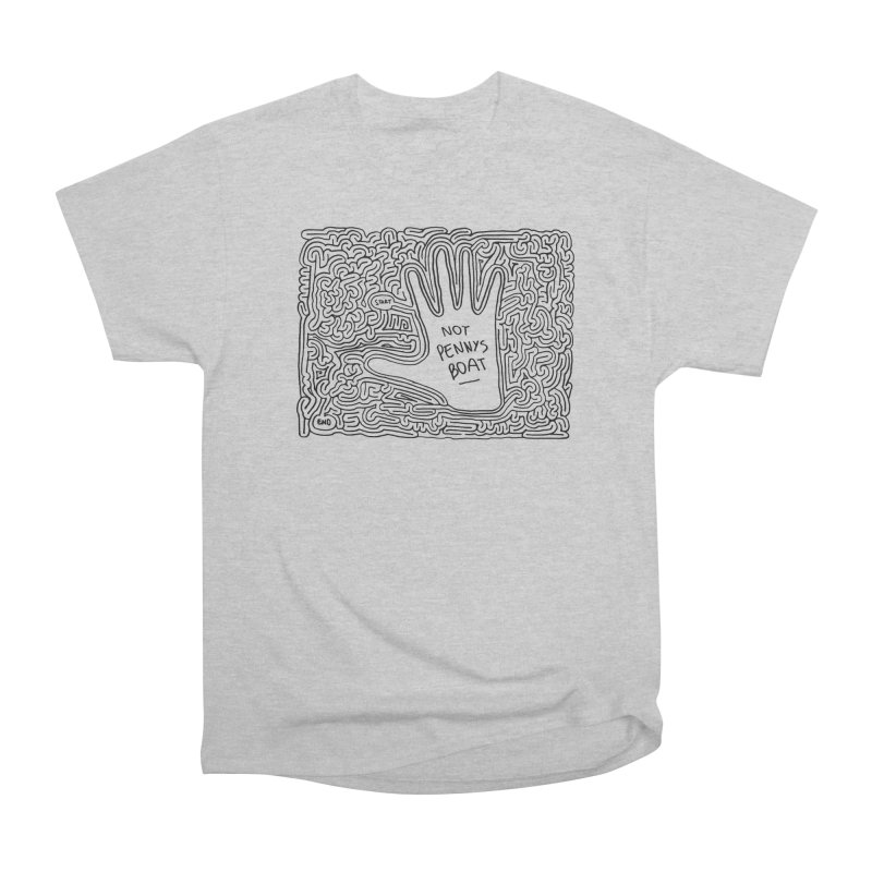 Not Penny's Boat maze (black) Men's Classic T-Shirt by idrawmazes's Artist Shop