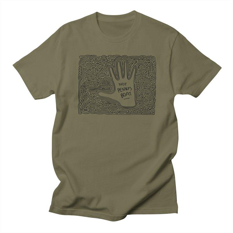 Not Penny's Boat maze (black) Men's T-shirt by idrawmazes's Artist Shop