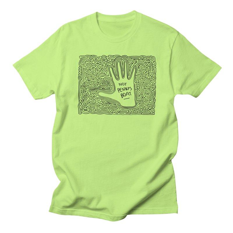 Not Penny's Boat maze (black) Men's Regular T-Shirt by I Draw Mazes's Artist Shop