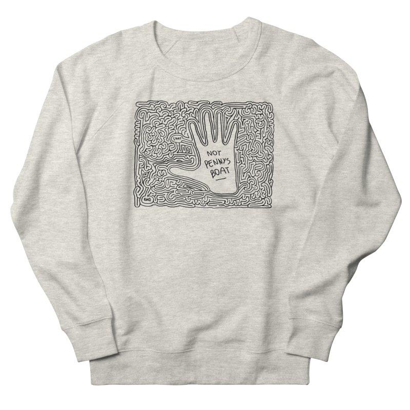 Not Penny's Boat maze (black) Women's Sweatshirt by idrawmazes's Artist Shop