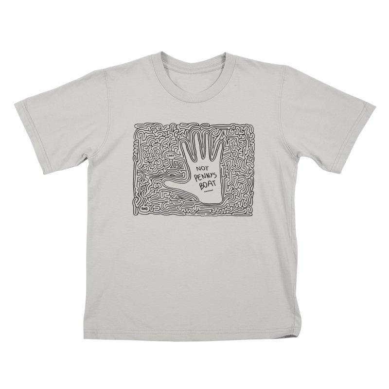 Not Penny's Boat maze (black) Kids T-Shirt by idrawmazes's Artist Shop