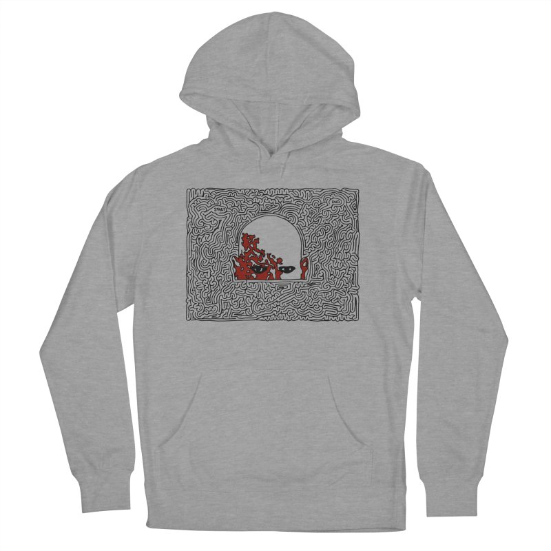 Zombie Women's French Terry Pullover Hoody by I Draw Mazes's Artist Shop