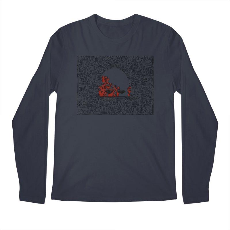 Zombie Men's Regular Longsleeve T-Shirt by I Draw Mazes's Artist Shop